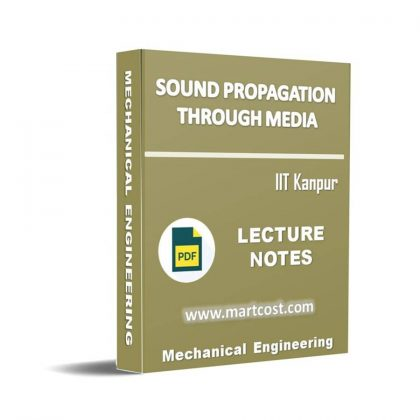 Sound Propagation Through Media Lecture Note