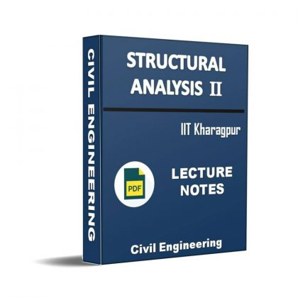 Structural Analysis II Lecture Note