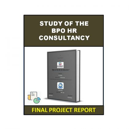 Study of the BPO HR Consultancy