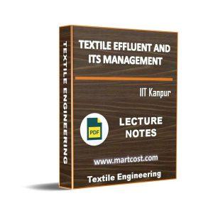 Textile Effluent and its Management