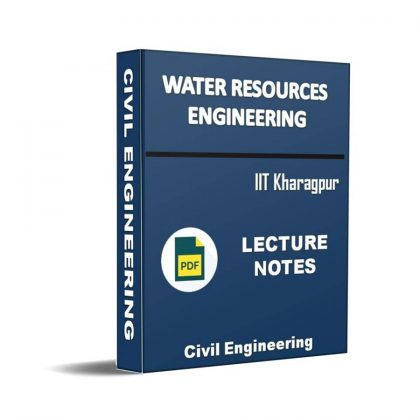 Water Resources Engineering Lecture Note