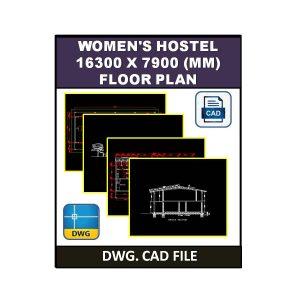 Women's Hostel 16300 x 7900 (mm) Plan