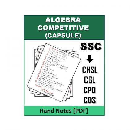 Algebra Competitive Hand Note