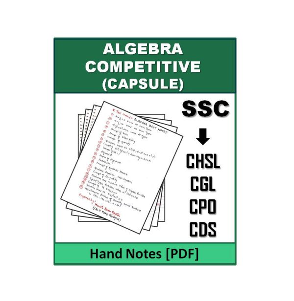 Algebra Competitive Capsule Note