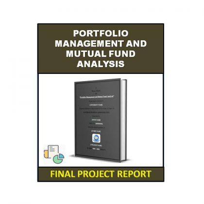 Portfolio Management and Mutual Fund Analysis