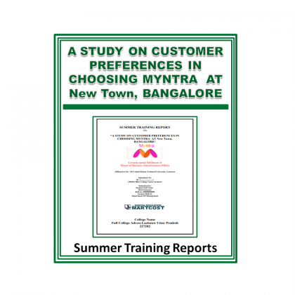 A Study On Customer Preferences in Choosing Myntra at New Town, Bangalore